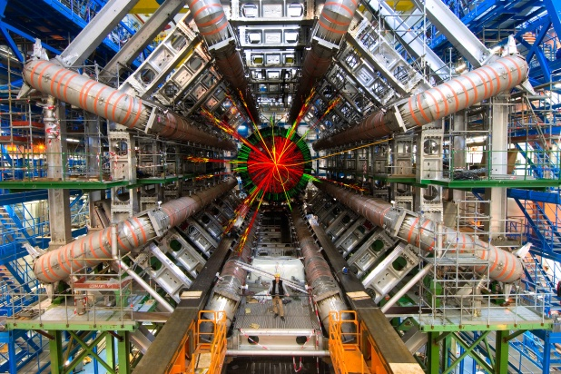 High energy collisions at the CERN Large Hadron Collider may produce new particles associated with new forces in the early Universe